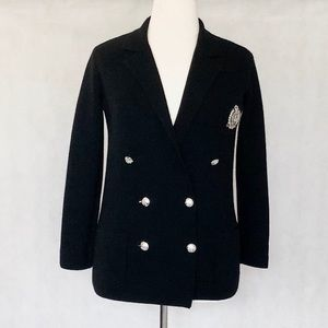 LAUREN Ralph Lauren Knit Double Breasted Blazer